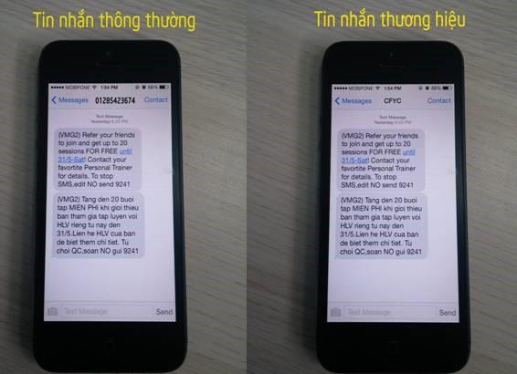 sự khác biệt tin nhắn thông thường và tin nhắn thương hiệu