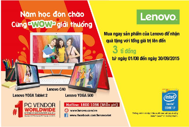 Back to School 2015 - Hợp tác cùng Lenovo dự án